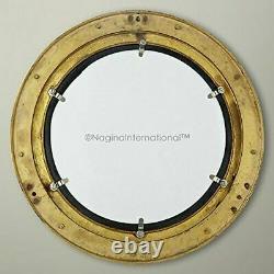 17 Large Brass Porthole Nautical Maritime Boat Ship Porthole Window Wall Mirror
