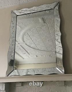 1950's Hollywood Regency Large Rectangle Wall Mirror GLAMOROUS GLAM! LOCAL PK UP