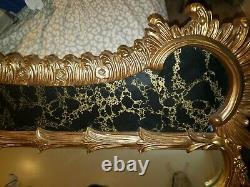 1976 Vintage Large Antique Wall Mirror