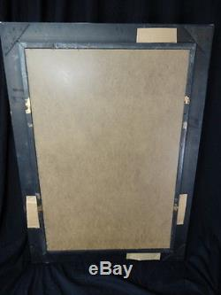 1 Large Antique Ebony French Empire Style Reproduction Pier Glass Wall Mirror