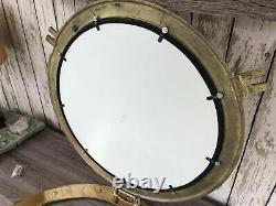 20 Brass Porthole Mirror Nautical Wall Decor Large Working Ship Cabin Window