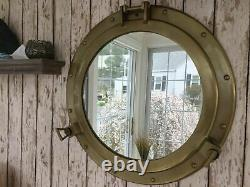 20 Porthole Mirror Antique Brass Finish Large Nautical Cabin Wall Decor