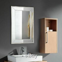 20 x 30 Large Flat Framed Wall Mirror Mounted 3 Inch Edge Beveled Frame