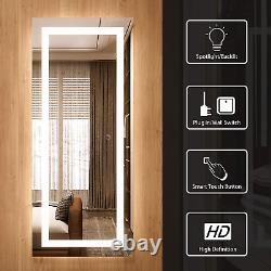 20x48 LED Full Length Mirror with Lights, Large Full Body Mirror, Wall Mounted