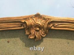 32.5 x 31.0 Large Antique Ornate Gilt Gesso Wood Framed Overmantle Wall Mirror