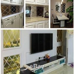 3d Wall Living Room Pattern Stickers Bedroom Mirror Sticker Wallpaper Decorative