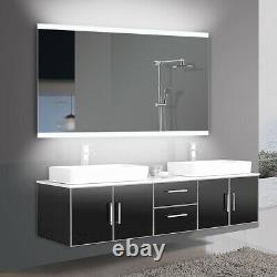 40x24 Large LED Vanity Mirror With Light Wall Makeup Bathroom Mirror by Yukon