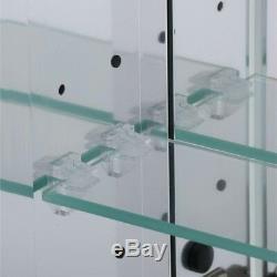 48 Large 3 Door Recessed Medicine Cabinet Bathroom Mirror Frameless Wall Mount