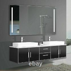 48x28 Large LED Vanity Mirror With Light Wall Makeup Bathroom Mirror by Yukon