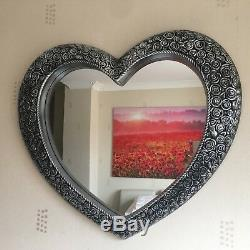 ANTIQUE STYLE ORNATE HEART WALL MIRROR DRESSING BATHROOM LARGE WALL MIRROR 67x58