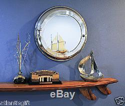 Aluminum Ship Cabin Porthole 21 Round Mirror with Storage Nautical Wall Decor