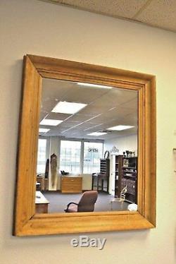 Antique Large Early American Sugar Pine Wall Mirror Original Colonial
