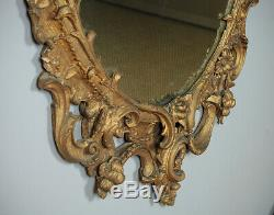 Antique Large Gilded Gesso Wall Mirror c. 1880