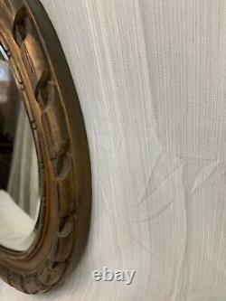 Antique Large Oval Fancy Ornate Beveled Wall Mirror