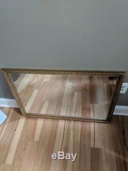 Antique Large Wall Mirror 32 1/2 x 22 1/2 Giltwood Gold 32