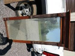 Antique Vintage East-lake Large Ornate Wooden Wall Mirror 55 3/16 H, 27 1/2 W