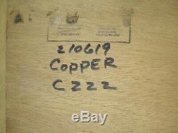 Architectural large verdigris copper floor wall mirror industrial steampunk