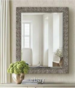Bathroom Vanity Mirror Large Mute Gold Wall Hall Living Room Mosaic Pattern 32