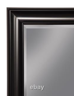 Black Full Length Floor Mirror Bathroom Vanity Wall Hang Leaner Large Beveled