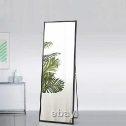 Black Full Length Mirror Bedroom Floor Mirror Hanging Standing Large Wall Mirror