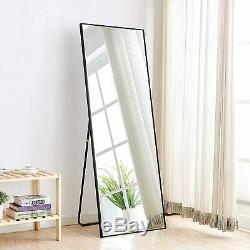 Black Full Length Mirror Bedroom Floor Mirror Standing Hanging Large Wall Mirror