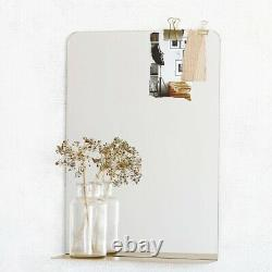 Brass Wall Hanging Mirror With Shelf by House Doctor