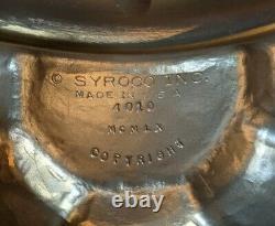 Brilliant Large Vintage Syroco 4010 Federal Eagle Convex Wall Hanging Mirror 28