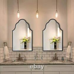 Chende 32'' Arch Wall Mirror for Decor Large Mirror with Wood Frame for Entryway