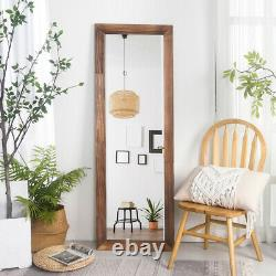 Chic 63 Full Length Mirror Rustic Wood Frame Floor Large Wall Mirror Brown/Gray