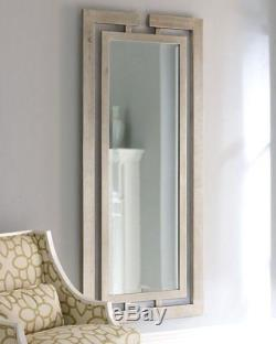 Contemporary Large Silver Gold Wall Floor Mirror XL 76 Dressing Horchow Chic
