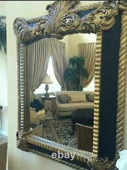 Custom large framed mirror