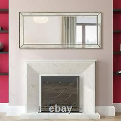 Decorative Wall Mirror Extra Large Hanging Accent Hallway Living Room Champagne