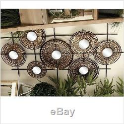 Dimensional Mirrored Metal Wall Art Large Contemporary Abstract Hanging Ornament