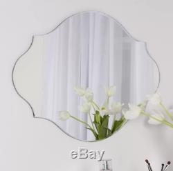 Elegant Glass Frameless Oval Beveled Wall Mirror Large Decorative Bathroom Decor