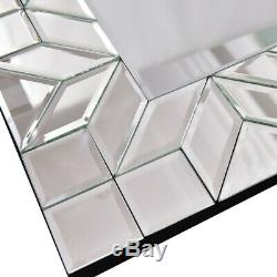 Elegant Rectangular Wall Mounted Vanity Mirror Glam Bathroom Decorative Large