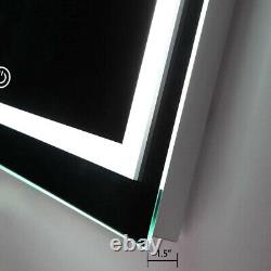 Extra Large 32x32in Antifog Bathroom Wall Mirror Makeup Illuminated Touch Mirror