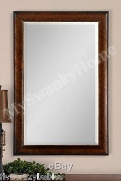 Extra Large 58 RUSTIC BRONZE Wall Mirror Oversize Mantle Vanity Neiman Marcus