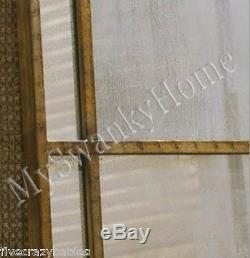 Extra Large Antiqued WINDOW MIRROR Wall Leaner 79 Oversize Architectural Floor