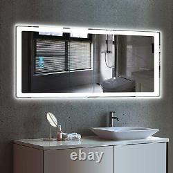Extra Large Bathroom Led Illuminated Wall Mirror Touch Sensor Anti-fog Function