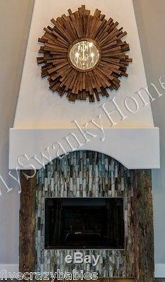 Extra Large DRIFTWOOD Sunburst Starburst Wall Mirror XL Contemporary Oversize