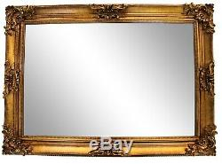 Extra Large Ornate Antique Style Gold French style Wall Mirror 77cm x 107cm