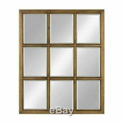 Farmhouse Wall Decor Mirror Modern Country Large Window Pane Hallway Classy New