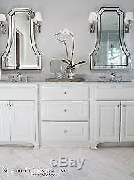 Flat Top Arch Vanity Beveled Wall Mirror Large Modern Venetian Arched Horchow