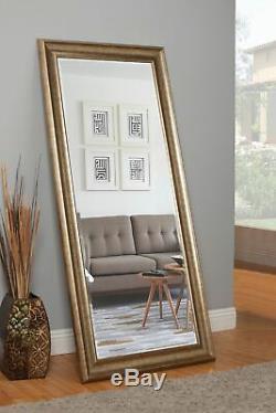 Floor Mirror Large Full Length Leaning Wall Leaner Living Bedroom Antique Gold