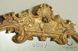 French Louis XV Style Large Gold Frame Carved Wall Mirror
