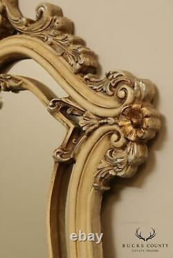 French Louis XV Style Large Painted Double Wall Mirror