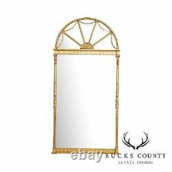 Friedman Brothers Historic Natchez Collection Large Gilt Frame Fanlight Mirror