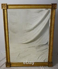 Friedman Brothers Large Square Gold Gilt Mirror 46 H X 36 W made in New York