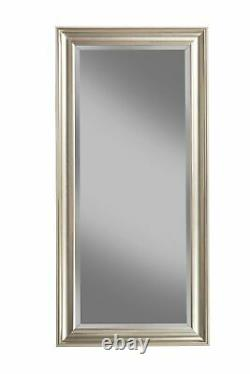 Full Body Length Mirror Floor Leaning Mirror Beveled Large Mirrors For Wall