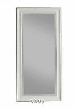 Full Body Length Mirror Floor Leaning Mirror Modern Large Beveled Wall Mirror